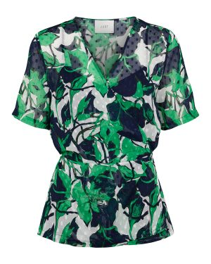 Just-Female-Joana-Wrap-Blouse-Abstract-Leaf