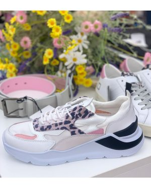 Fuga Pink and White Fuga Trainers