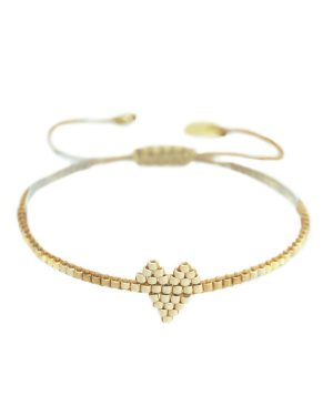 Mishky-Beige-Heartsy-Bracelet