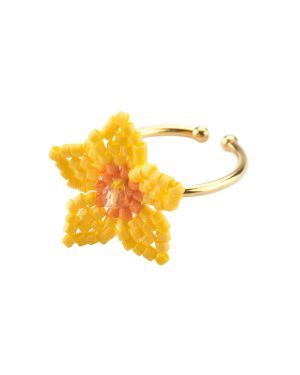 Mishky-Gold-Orange-Flower-Ring