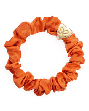by-eloise-silk-scrunchie-bangle-band-orange