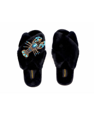 blue-crystal-lobster-slippers-black