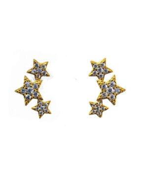 icandi-rocks-triple-star-earrings-gold-1