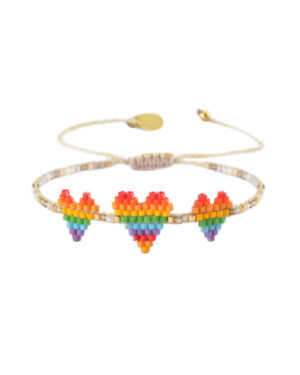mishky-heartsy-row-triple-heart-rainbow-bracelet