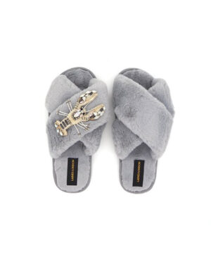 white-crystal-lobster-slippers-grey