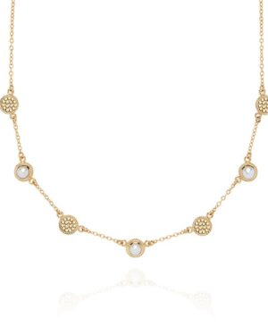 Anna Beck Pearl Station Collar Necklace