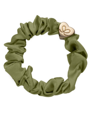 by-eloise-silk-scrunchie-olive-green