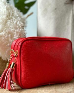 KA-Double-Zip-Clutch-bag-Red
