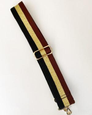 black-gold-burgundy-strap