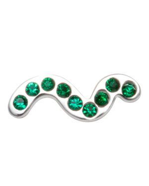 lulu-snaky-earring-green-1