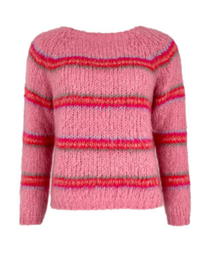 Black-Colouor-Candy-Pink-Knit